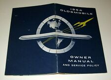 OLDSMOBILE 1954 ILLUSTRATED AUTOMOBILE OWNER MANUAL * ID CARD & PRODUCTION ORDER