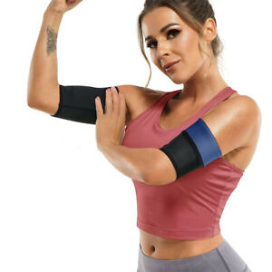 2Pcs Arm Wraps Trimmer Shaper Fat Burner Sweat Body Slimming Belt Thermal Girdle
