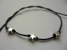 KARMASTRING black string 3 star tie-on bracelet_anklet love meditation om zen