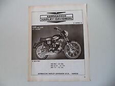 advertising Pubblicità 1972 AERMACCHI HD HARLEY DAVIDSON 125 DE LUXE