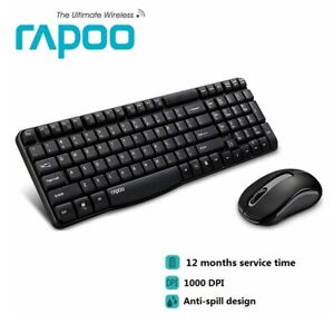 Wireless Keyboard and Mouse Rapoo X1800S Combo Bundles Optical Mouse USB