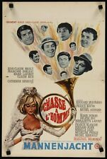 LA CHASSE A L'HOMME MALE HUNT Belgian movie poster BELMONDO DENEUVE DORLEAC