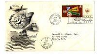 Sobre primer día Naciones Unidas First Day Stamps sellos Circulado