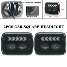 "2PCS 5x7"" Off Road Car Square Headlight Angel Eye Diaphragm Work White Light Kit"
