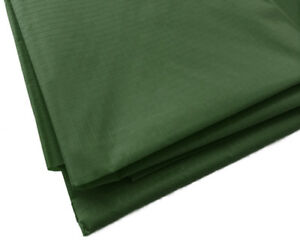 Olive Green Waterproof Rip Stop Ripstop Fabric Nylon Look Material Cover 150cm