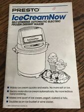 Sunbeam Ice Cream Maker Instruction/Recipes Owners Manual, Hand Crank