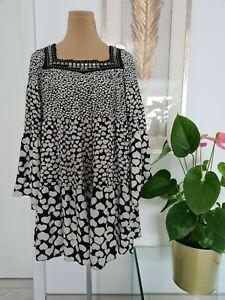 26 BALMAIN Kleid schwarz weiß Herzchen & Nieten in silber Gr. 36 ( 38 ) Seide