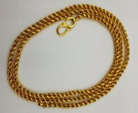 VINTAGE SOLID 22K SOLID FLEXIBLE ROPE CHAIN NECKLACE MOTHER'S DAY GOLD CH161