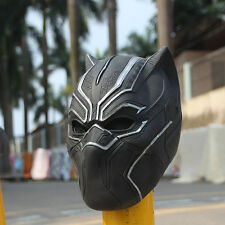 The Avengers BLACK PANTHER Black Mask Halloween Fancy Ball Latex Helmet Props