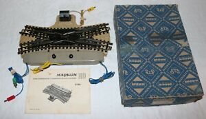 Vintage Marklin HO 5126 Double Slip Switch in Box w/ Instructions
