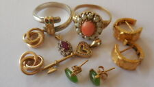 Bulk Vintage genuine gold, 9ct, 14ct, 18ct and 22ct jewellery for wear, 13.39g