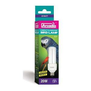 Arcadia Bird Lamp 20 Watt E 27 Kompakt UVB UVA Vogel Lampe PREISHIT