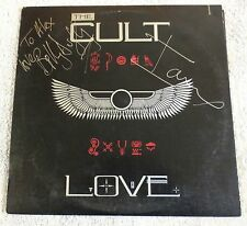 THE CULT Love LP Original Sire Press AUTOGRAPHED by Billy Duffy & Ian Astbury