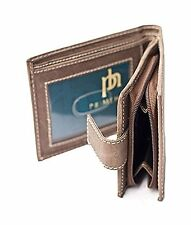 Distressed Leather Wallet Zip Around Pocket Leather Notecase  Brown 8504