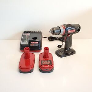 "Craftsman C3 19.2v 1/2"" Drill Driver Set 2 Speed Batteries Charger"