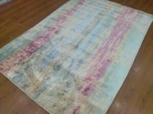 5'6x8' Rug | Handmade Hand Tufted Wool & Viscose Multi Area Rug