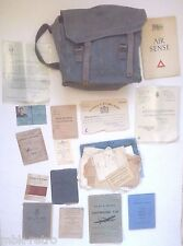 1930-50 England Royal Air Force Pilot  Bag Certificates Letters Documents