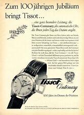 Schweizer Uhr Tissot XL Reklame 1953 Centenary 100 jähriges Jubiläum Le Locle