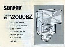 "PUBBLICITA' WERBUNG "" SUNPAK AUTO 2000 BZ "" MANUALE DI ISTRUZIONI"