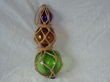 Hand Blown Glass Ball Fishing Boat Net Floats -  Nice Size Bathroom Wall Hanging