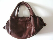 Brown leather bag, New