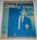 Partition vintage sheet music CHARLES AZNAVOUR : Le Temps * 60's