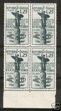 1954 TRIESTE A ELICOTTERO QUARTINA MNH ** - RR6039-4