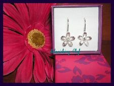 AVON SPARKLING FLOWER EARRINGS W PINK BOX STUNNING