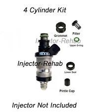 Honda Acura Fuel Injector Service Repair Kit Filters O-rings Seals PINTLE CAPS!