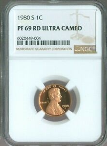 1980-S LINCOLN MEMORIAL CENT 1c NGC PF69 RD ULTRA CAMEO QUALITY✔️