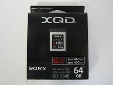 Brand New! Sony - G-Series 64GB XQD Memory Card - Black/Silver (QD-G64E) 400MB/s