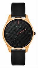 MAM Mens Areno Watch - Black/Wood Gold