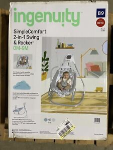 Ingenuity Simple Comfort 2-in-1 Infant Baby Swing & Rocker - Raylan, Unisex