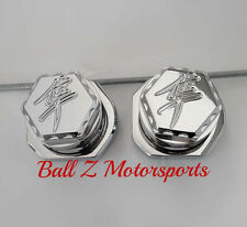 08-17 Hayabusa Chrome 3D Hex Engraved Rear Axle Caps/Covers w/Adjuster Blocks!