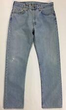 Levis 505 W34 L34 tg 48 jeans uomo usato gamba dritta boyfriend vintage blu