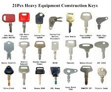 21 Heavy Construction Equipment Ignition Key For John Deere Cat Case Komatsu Jcb