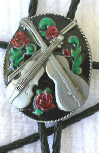 SQUARE DANCE COUNTRY WESTERN MUSIC BOLO TIE MADE USA FREE SHIP USA  COLORFUL