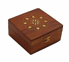 Christmas Thanksgiving Gifts Decorative Wooden Jewelry Trinket Ring Box Small &