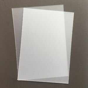 A5 Frosted Acetate 500 Micron x 5 Sheets - Clear Flexible Polypropylene Plastic