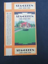 STA-GREEN Lawn Grass Seed Box – 1920s – Unfolded