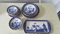 ANTIQUE THE ORIGINAL OLD WILLOW PATTERN BOOTHS CHINA PLATES BOWLS SOUP SANDWICH
