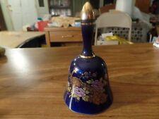 "5"" Tall Ceramic Bell W/ Peacocks & Flowers #2774"