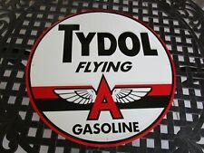tin metal home garage repair shop man cave decor service station fuel tydol