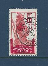 """GABON  (FRENCH CONGO) - B1- USED - 1916 -  """"+ 5c"""" O/P ON FANG WARRIOR"""