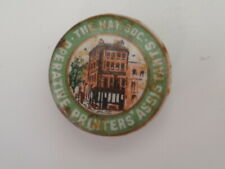 More details for nat society operative printers assistants, original vintage badge circa 1904