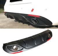 For Alfa Romeo Giulia 17-18 Rear Bumper Diffuser Lip W/ Exhaust Tips Reflector