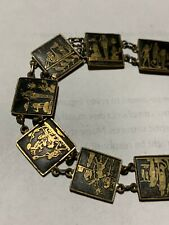 Vintage Jewelry, Great Item. Ddd5 Vintage Egyptian Motif Tile Bracelet -
