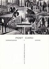 1960's MULTI VIEWS OF SALISBURY CATHEDRAL SALISBURY WILTSHIRE UNUSED POSTCARD a