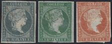1855-240 SPAIN ANTILLES PUERTO RICO SPAIN 1855 1/2r-2r FIRT ISSUE LINEA DE TINTA
