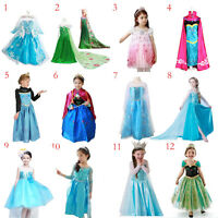 FROZEN DRESS Disney ELSA ANNA PRINCESS KIDS COSTUME PARTY Cosplay  SNOW QUEEN